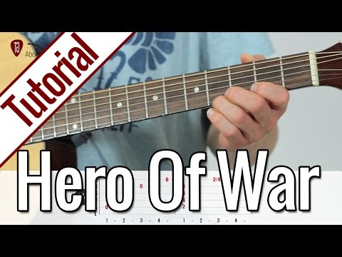 Rise Against - Hero Of War | Gitarren Tutorial Deutsch