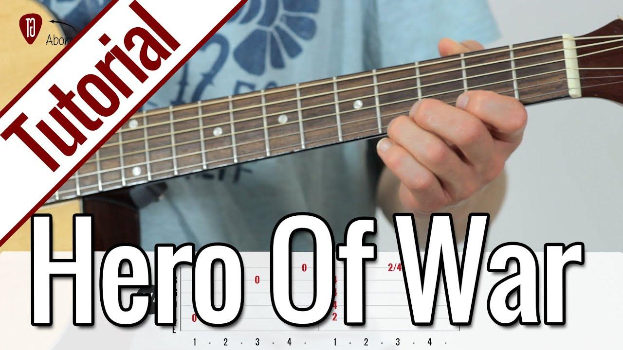 Rise Against Hero Of War Gitarren Tutorial Deutsch Youtube