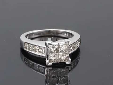 1 5/8 ct Princess Cut Diamond Engagement Ring