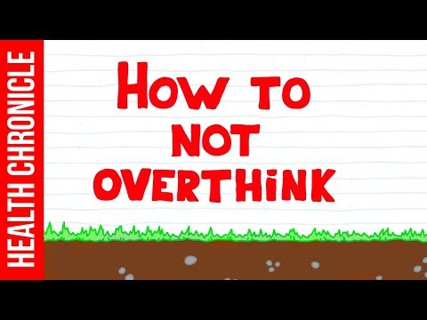 How to Stop Overthinking Everything RIGHT NOW!! The QUICKEST Way!