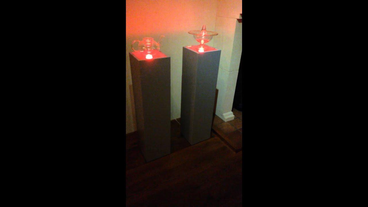 Zuil op maat met ingebouwde led verlichting
