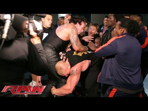 The Brawl Between Brock Lesnar And The Undertaker Spills Backstage: Raw, July 20, 2015