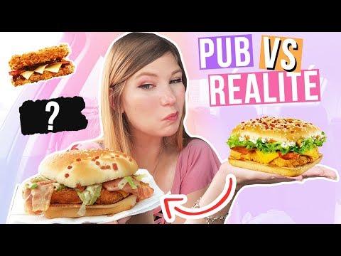 PUB VS RÉALITÉ AUX FAST FOOD 🍔 Ce qu'on a vraiment ?