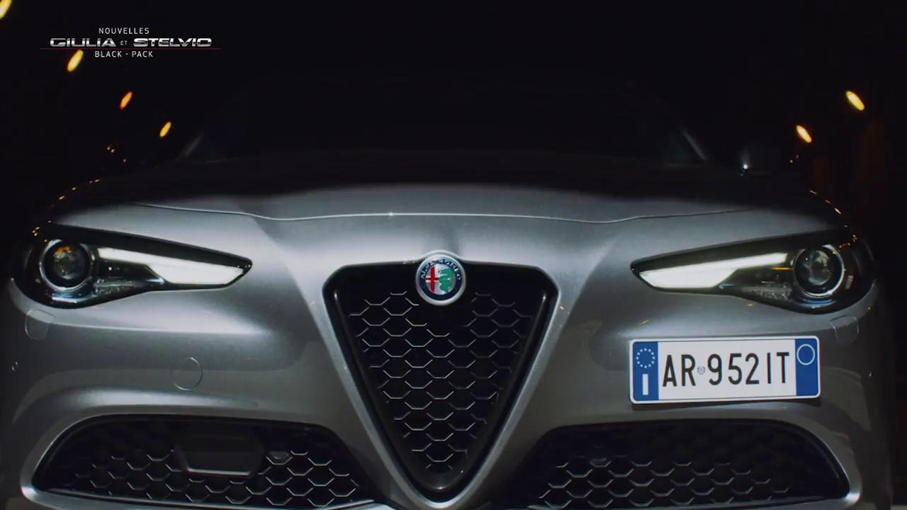 Nouvelles Alfa Romeo Giulia Stelvio Black Pack Youtube