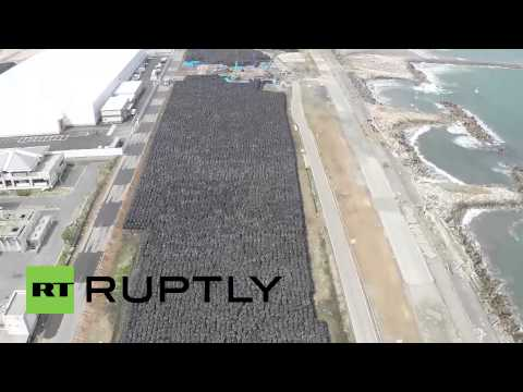 Japan: Drone captures TONNES of nuclear waste being stored at Fukushima