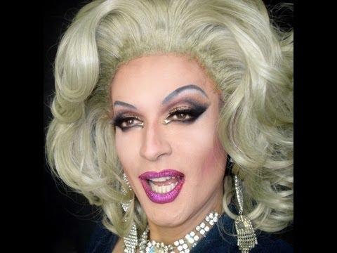 Makeup transformation drag queen