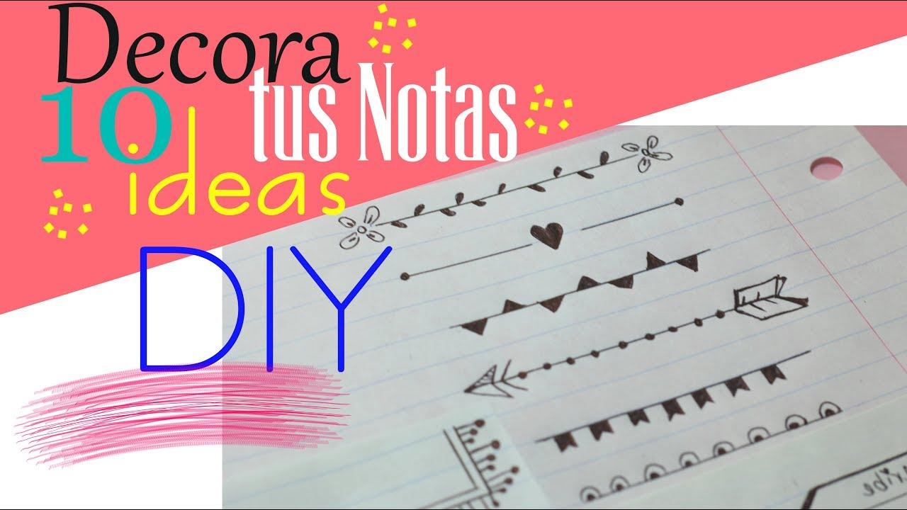 Ideas De MÁrgenes Para Decorar Cuadernos Y Libretas: DIY DECORA TUS CUADERNOS CON MÁRGENES TÍTULOS PARA TUS