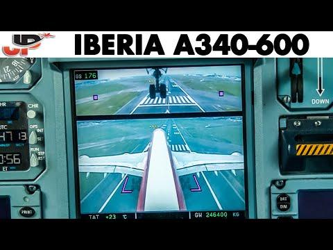Piloting A340-600 Into Mexico City | Cockpit Views