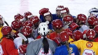 ЖМЧМ-2018. Тренировка женской молодежной сборной пред игрой с Канадой