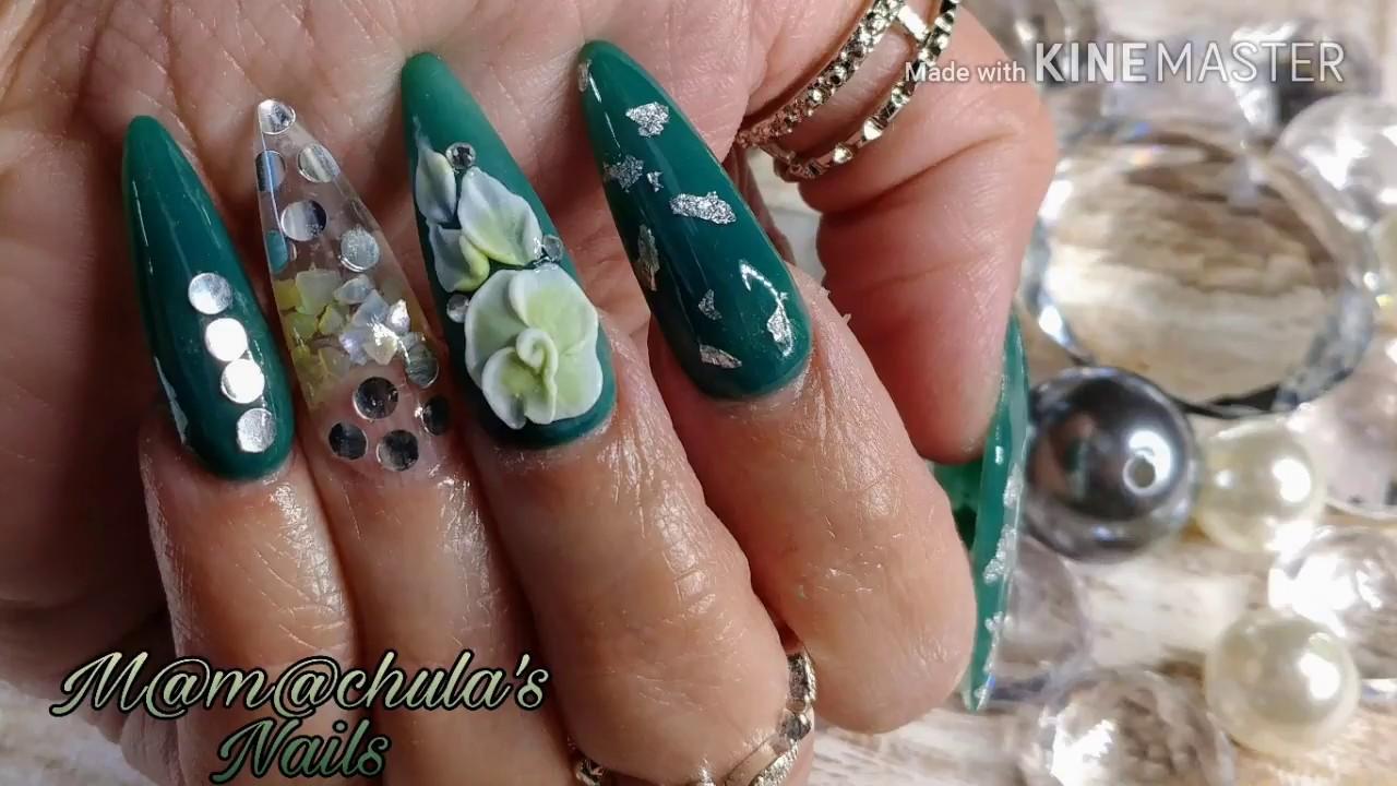 Uñas Verde Esmeralda - YouTube