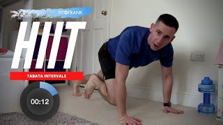 20 minute Bodyweight Tabata HIIT Workout