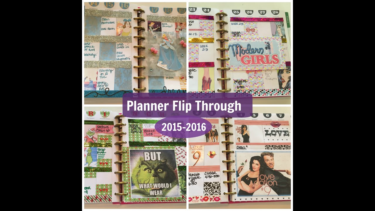 Planner Flip Through | 2015-2016 | Cheapcraftygirl