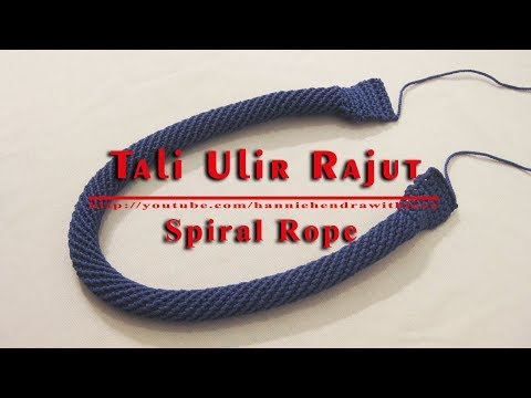 Crochet || Cara Merajut Tali Ulir -  Spiral Rope for Bag Handle - 002