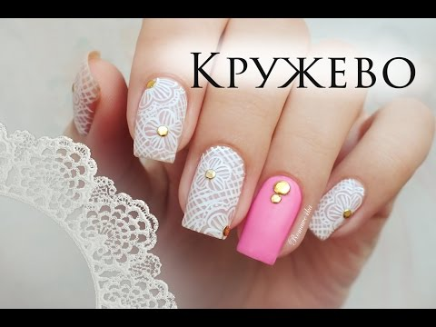 Дизайн ногтей роспись красками цветы 67