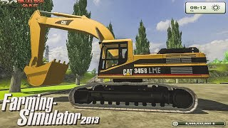 Repeat youtube video LS Farming Simulator 2013 Cat 345B Excavator