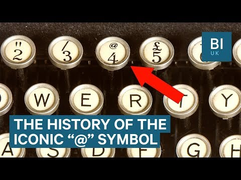 How the '@' sign became the symbol for online communication