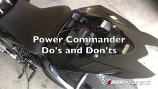 BMW S1000RR, Power Commander Do's and Dont's