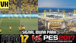 FIFA 17 VS PES 2017 STADIUM COMPARISON: Signal Iduna Park (Borussia Dortmund) #3