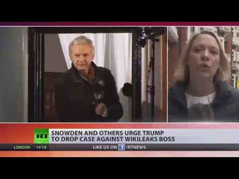 Open Letter to Trump: Snowden, Chomsky & others call on president to drop charges against WikiLeaks