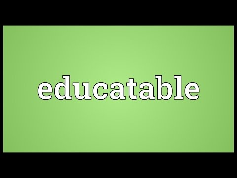 Header of educatable