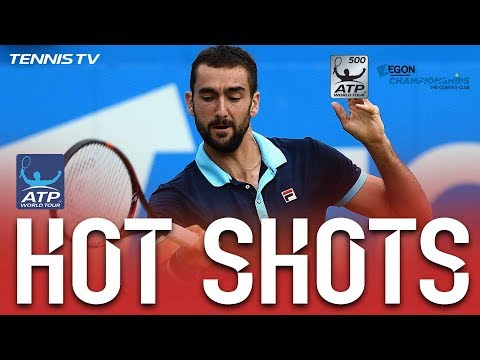 Cilic Curls Forehand Hot Shot Queens Club Final 2017