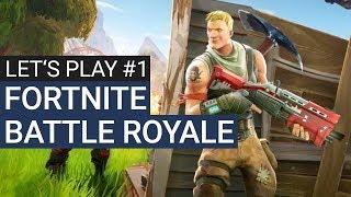 Fortnite Battle Royale #1 - Let's Play Fortnite Deutsch / Gameplay German