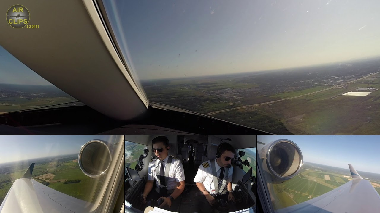 Learjet 45 Front View: Montreal Mirabel Takeoff on a Wonderful Day! [AirClips]