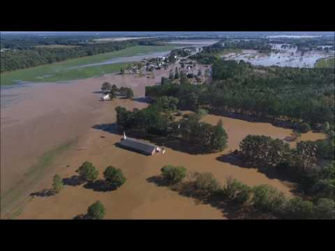 Flooding in Rocky Mount NC after Hurricane Matthew