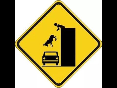 Самые не обычные дорожные знаки