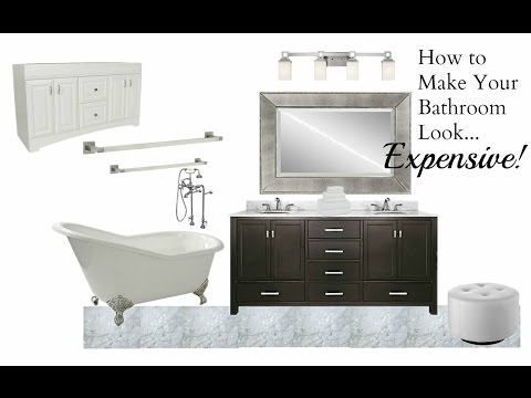 NEW!  Interior Design:  How To Make Your Bathroom Look Expensive