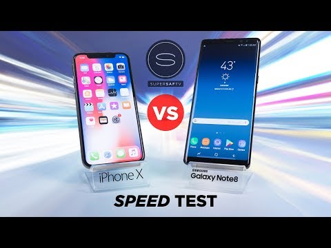 Download Youtube: iPhone X vs Galaxy Note 8 SPEED Test