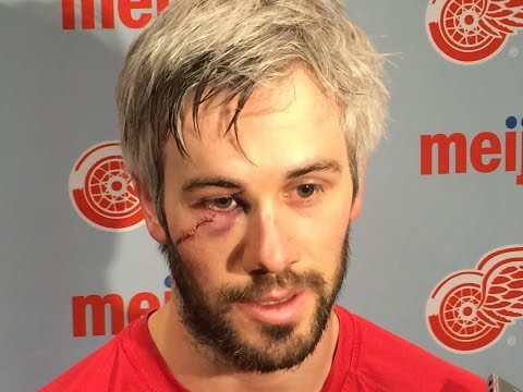 Red Wings Drew Miller recounts catching blade to the face