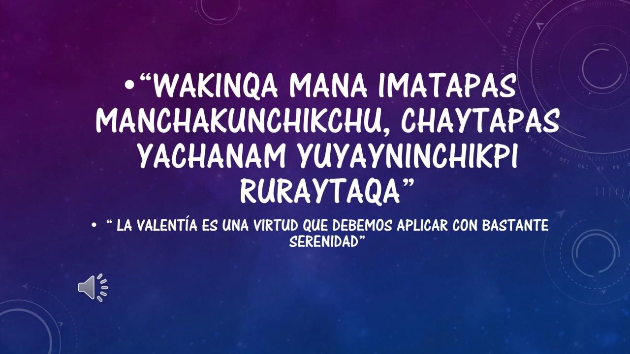 Aprendiendo 3 Frases En Quechua Youtube