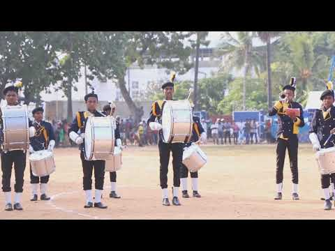 St.joshephs college sportsmeet band display 2018 guleba song