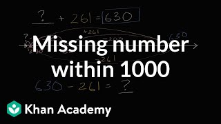 Missing Number For Addition And Subtraction Within 1000 | 3th Grade | Khan Academy