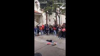 "Diego Tinoco, Jessica Marie Garcia & Julio Macias from ""On My Block"" surprise a high school!"