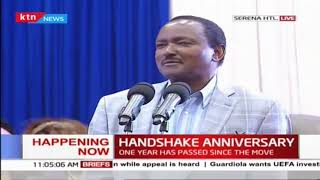 Uhuru-Raila handshake anniversary ongoing at Serena Hotel