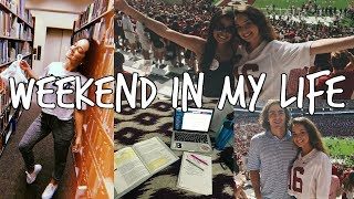 college weekend in my life: bama gameday + grwm, studying, hauls