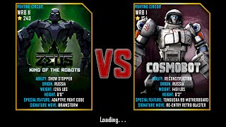 Real Steel WRB ZEUS King Of The Robots VS COSMOBOT NEW