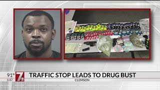 THC candy & vape pens, pot, gun found in traffic stop in Clemson