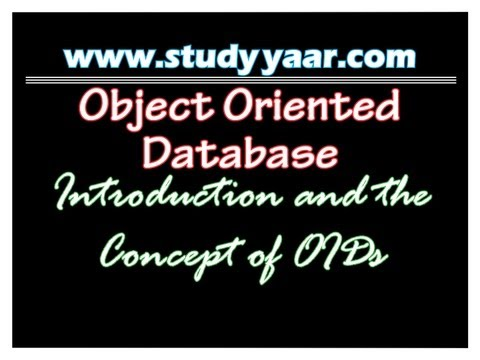 Object Oriented Database 1 - Introduction with the concept of OIDs