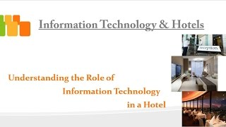 Information Technology In Hotel - Session 1