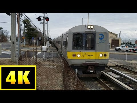 4K/60p: LIRR #2053 Westbound with 10 M3s at Central Islip