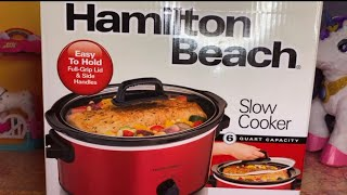 UNBOXING AND PRODUCT REVIEW OF HAMILTON BEACH SLOW COOKER (CROCKPOT) - CT FAMILY