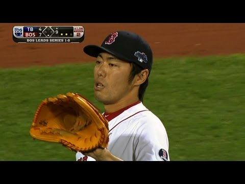 Uehara pitches a perfect ninth to save it