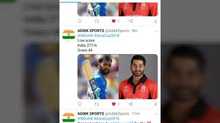 India vs Hong Kong live score Asia cup 2018