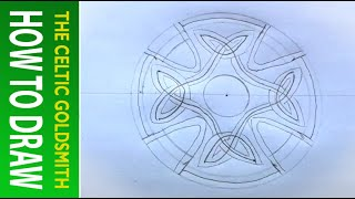 How to Draw Celtic Patterns 44 -  Celtic Cross with Triskeles - Leeds 2of5
