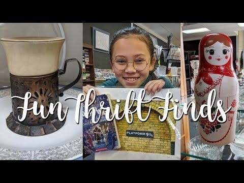 Thrift with Me-Vintage Finds Haul Part 2-Thrifting Roadtrip Adventure!