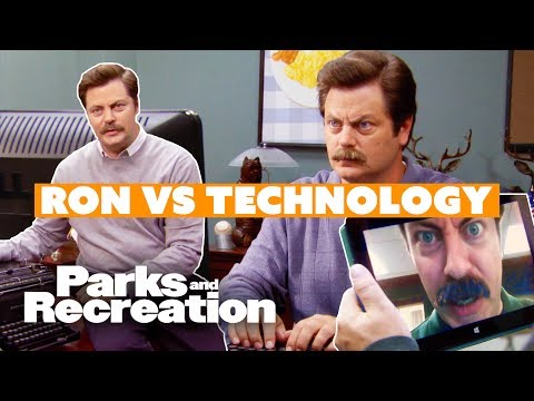 Ron Swanson Hates Technology - Parks And Recreation