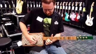 Quinton Plays the John Deere Themed Cigar Box Guitar